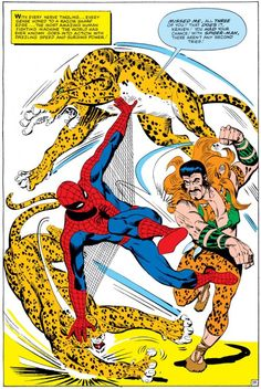 Spider-Man vs. Kraven in Amazing Spider-Man Annual #1