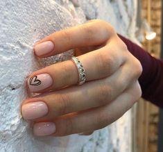 Cute Nail Art Designs, Short Nail Designs, Gel Nail Designs, Simple Nail Designs, Designs For Nails, Summer Nail Designs, Sparkle Nail Designs, Natural Nail Designs, Solid Color Nails