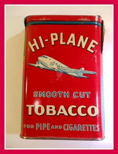 Antique Hi Plane Tobacco Tin by TheRightSpot on Etsy