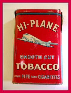 Antique Hi Plane Tobacco Tin