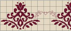 Vente d& Flash DMC Torchon - Points Croix & Cross stitch embroidery - Cross Stitch Borders, Cross Stitch Patterns, Weaving Loom Diy, Walnut Shell, Bead Loom Bracelets, Dmc, Knitting Charts, Bargello, Loom Beading