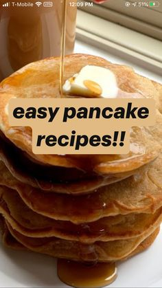 Fun Baking Recipes, Snack Recipes, Dessert Recipes, Cooking Recipes, Snacks Saludables, Pancakes Easy, Diy Food, Homemade Food, Breakfast Recipes
