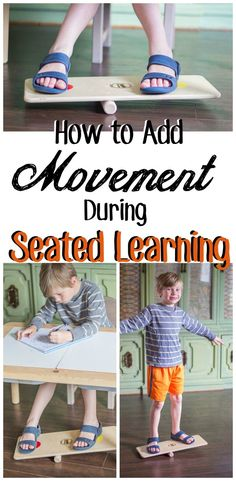 How to Incorporate Seated Movement in the Classroom Movement Activities, Therapy Activities, Physical Activities, Sensory Activities For Preschoolers, Classroom Activities, Motor Activities, Pediatric Physical Therapy, Occupational Therapy, Play Based Learning