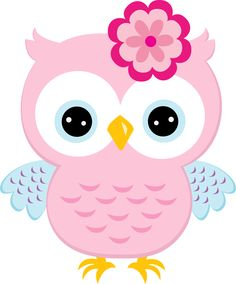 Light pink owl with bow