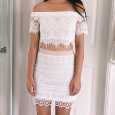 American Eagle Crochet Skirt Beautiful American Eagle white crochet skirt. Brand new with tags and retails $50 American Eagle Outfitters Skirts