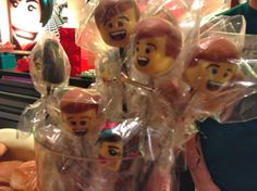 Lego-head cake pops at The Lego Movie screening! #TheLegoMovie