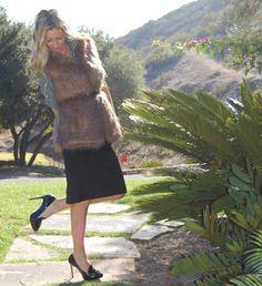 the stylish housewife - rachel zoe faux fur vest