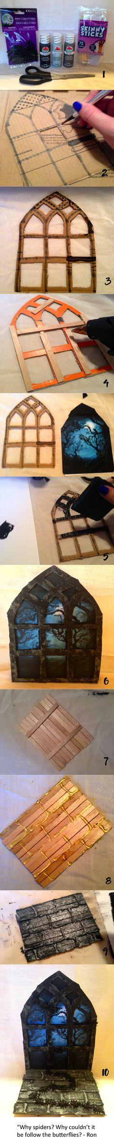 DIY HP Ornament Scuttling Spiders Scene