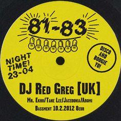 81-83 w/ DJ Red Greg 10.2.2012 Dj, Events