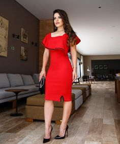 Elegant Dresses, Sexy Dresses, Big Girl Fashion, Womens Fashion, Dress Skirt, Bodycon Dress, Cocktail Outfit, Mexican Dresses, Professional Outfits