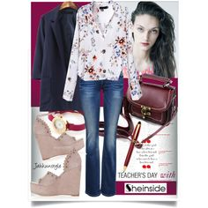 Teacher's Day with Sheinside by jahkun on Polyvore featuring ONLY, Topshop and Aurora