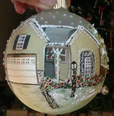 Your House hand painted ornament