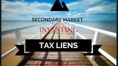 HOW CAN YOU BUY SECONDARY MARKET TAX LIENS? LEARN HOW INVEST IN THIS VIDEO.  Also if you want to learn more about tax lien and tax deed investing & download your free eBook! Go to www.secretsoftaxlieninvesting.com