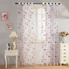 Home Textile Flower Embroidered Chinese luxury Window Curtains fabric Tulle Sheer Curtains for bedroom living room kitchen Sheer Curtains Bedroom, Drapes Curtains, Valance, Textiles, Living Roon, Tulle Decorations, Home Decor Shelves, Partition Design, Bedroom Closet Design