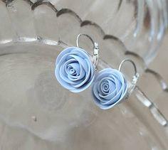 Hand-made roses earrings