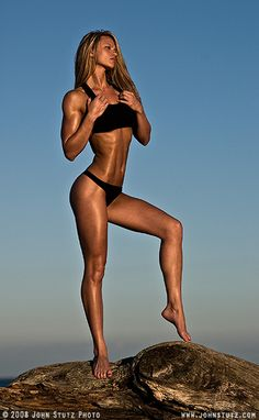IFBB Pro Tabitha Klausen-Leandri...she competes, yet isn't crazy muscular. Such great motivation!! See, muscles are sexy!
