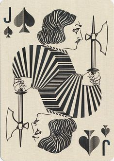 J♠ Uusi\'s Royal Optik Playing Cards / Jack Of Spades. http://uusi.us/collections/blue-blood-playing-cards/products/royal-optik-black-edition