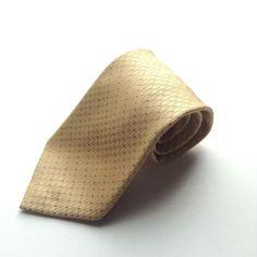 Perri Ellis Portfolio Mens Yellow Gold Silk Necktie  #PerryEllis #Tie