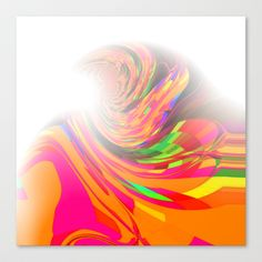 Re-Created  Tsunami FIVE Canvas Print by Robert S. Lee - $85.00