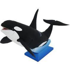 Killerwal,Tiere,Papiermodelle,schwarz,Meeressäuger,Meer,Tiere,Papiermodelle