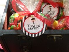 Pirate Theme Party Favor Thank You Gift Tags red by PartySoPerfect, $5.00