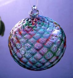 HAND BLOWN GLASS Christmas Ornament by zionkittyartglass on Etsy, $24.00