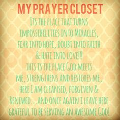 My Prayer Closet by Rebekah Rudzinskas