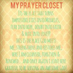 My Prayer Closet by Rebekah Rudzinskas