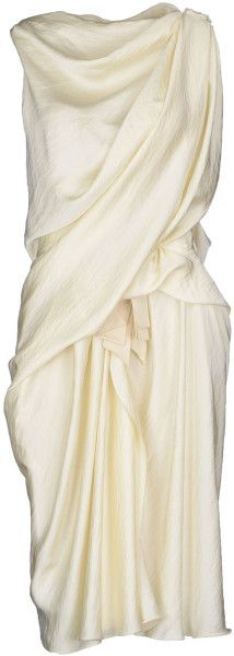 f2eaefe4866f LANVIN Knee-length Dress - Lyst draped champagne dress  minimalist  fashion   style