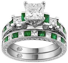 emarld wedding ring