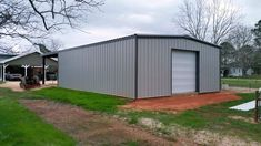 Metal buildings shops with porch and barn garage doors images - Check Out THE PICTURE for Various Tips and Ideas. Barn Garage, Garage Kits, Garage Doors, Shop Buildings, Metal Buildings, Prefab Garages, Metal Building Kits, Metal Workshop, Steel Garage