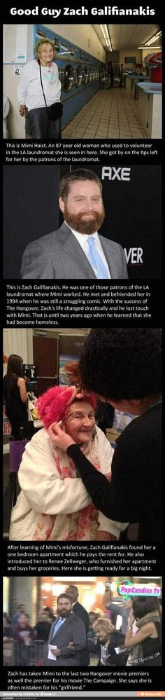 Good Guy Zach Galifianakis, I've heard this story before and really hope it's true :)