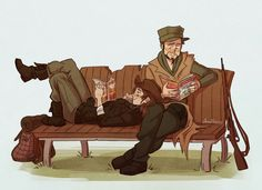 Ohh.. MacCready and Sole Survivir reading comics AWESOME!!