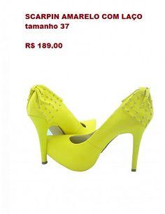 http://blacksuitdress.com.br/calcados/scarpin/scarpin-amarelo-com-laco-175.html #sapatodefesta #festa #casamento #formatura