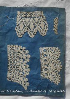"Örnekler ""Page Eight of lace sample book"", ""I would lose my mind. Filet Crochet, Beau Crochet, Crochet Lace Edging, Crochet Borders, Crochet Stitches Patterns, Knit Or Crochet, Irish Crochet, Crochet Designs, Crochet Home"