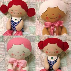 Rag Doll Softie Soft Toy Gingerbread Man ( i like the face & hair from felt)