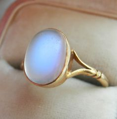 There's nothing like the dreamy glow of a moonstone. Ruby Lane, Vintage Rings, Gemstone Rings, Art Deco, Wire, Antiques, Shop, Jewelry, Antiquities