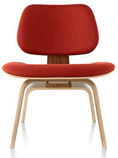 Eames Upholstered Molded Plywood Lounge Chair LCW Herman Miller