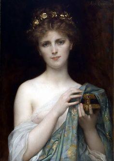Alexandre Cabanel   1823-1889, France, Academic Realism   Pandora