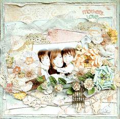 mother's love - Scrapbook.com (created by Maiko Kosugi Mai) Wendy Schultz onto Scrapbook Art.