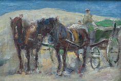 Rijtuig in de duinen van Domburg, Maurice Góth