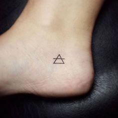 Small Triangle Foot Tattoo