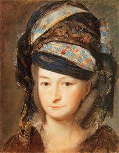 Portret Marii Teresy z Poniatowskich Tyszkiewiczowej Ok. 1797. Pastel na papierze. 44,5 x 35,5 cm. Muzeum Narodowe w Poznaniu. Portrait of Maria Therese Tyszkiewicz by Kazimierz Wojniakowski, about 1797