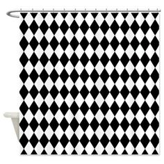 Black and White Harlecquin Shower Curtain