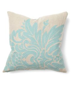 aqua illusion floral throw pillow