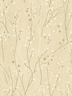 York Wallpaper - Pussywillow Branches - AD8223 $31.50 per roll.  #interiors #design #decor