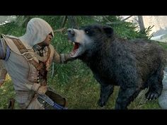 Assassin's Creed 3 Achilles Costume & Hunting Bears , Cougar , Bobcat and Elk