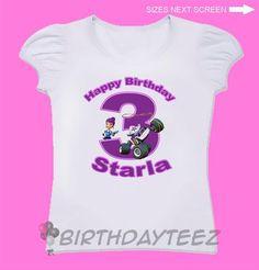 Blaze and The Monster Machines Girls Birthday Shirt, Starla