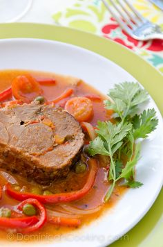 Carne Mechada (Braised beef roll)