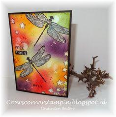 stampin' up! dragonfly dreams  workshop chloortechniek crowscornerstampin.blogspot.nl